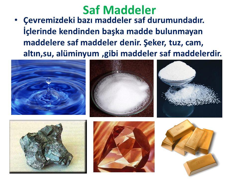 Saf Maddeler