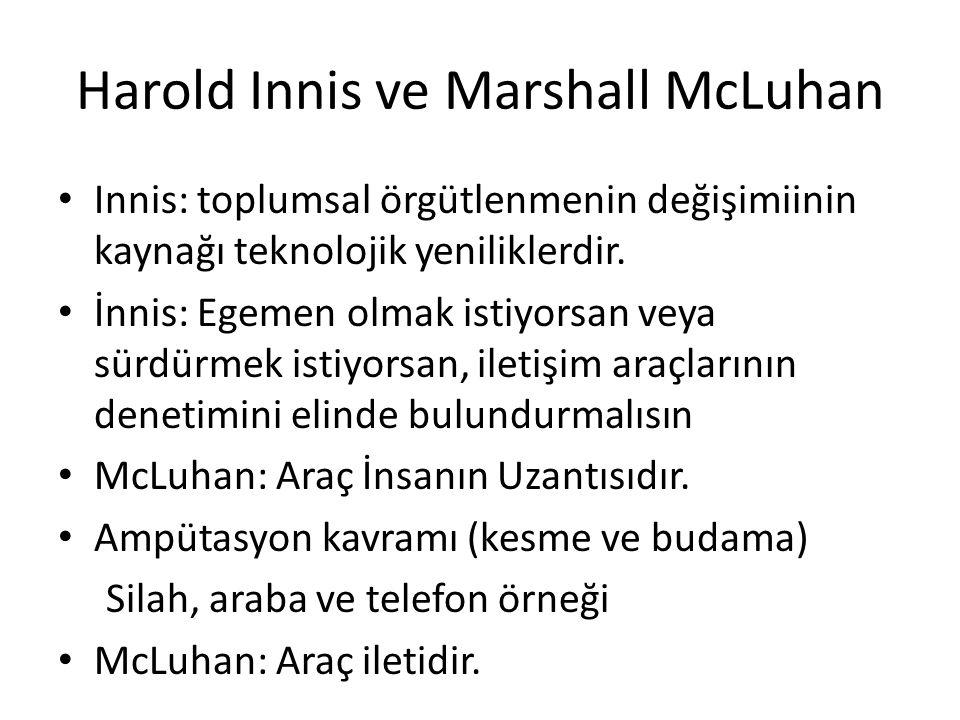 Harold Innis ve Marshall McLuhan