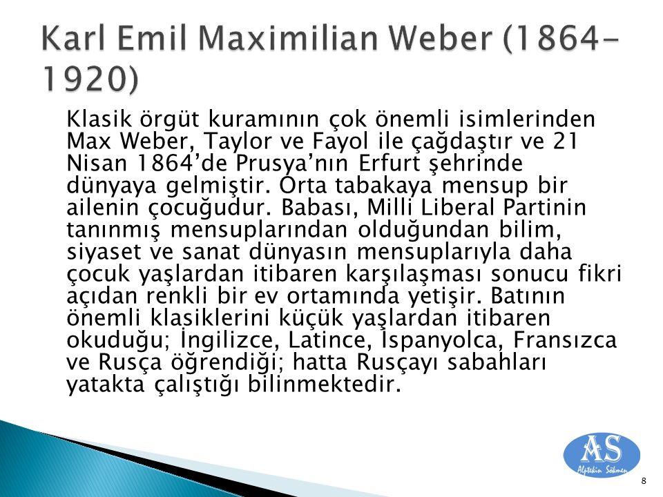 Karl Emil Maximilian Weber (1864-1920)