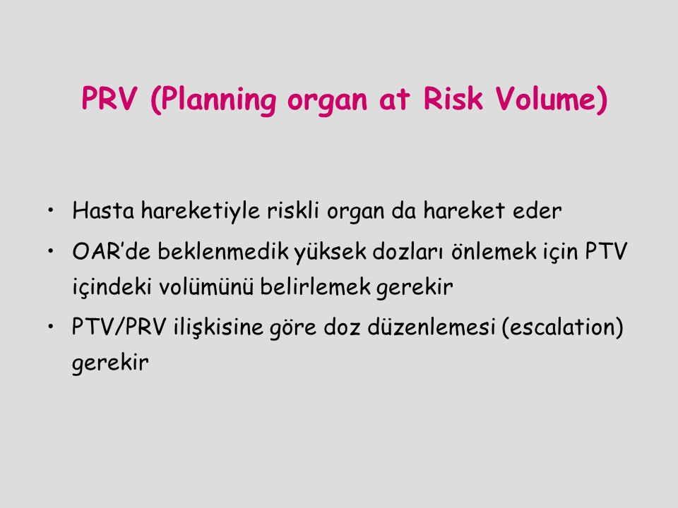 PRV (Planning organ at Risk Volume)