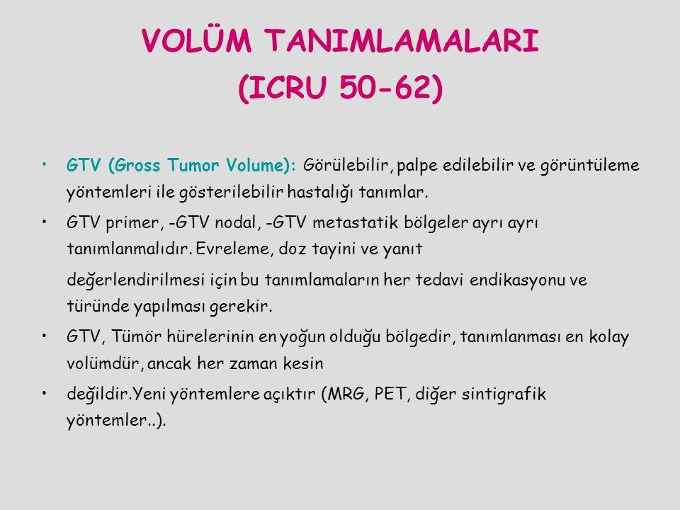 VOLÜM TANIMLAMALARI (ICRU 50-62)