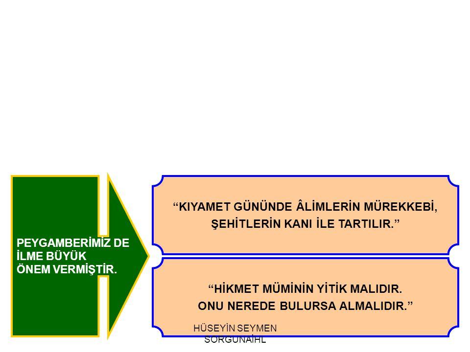 ALİMLER PEYGAMBERLERİN VARİSİDİRLER.