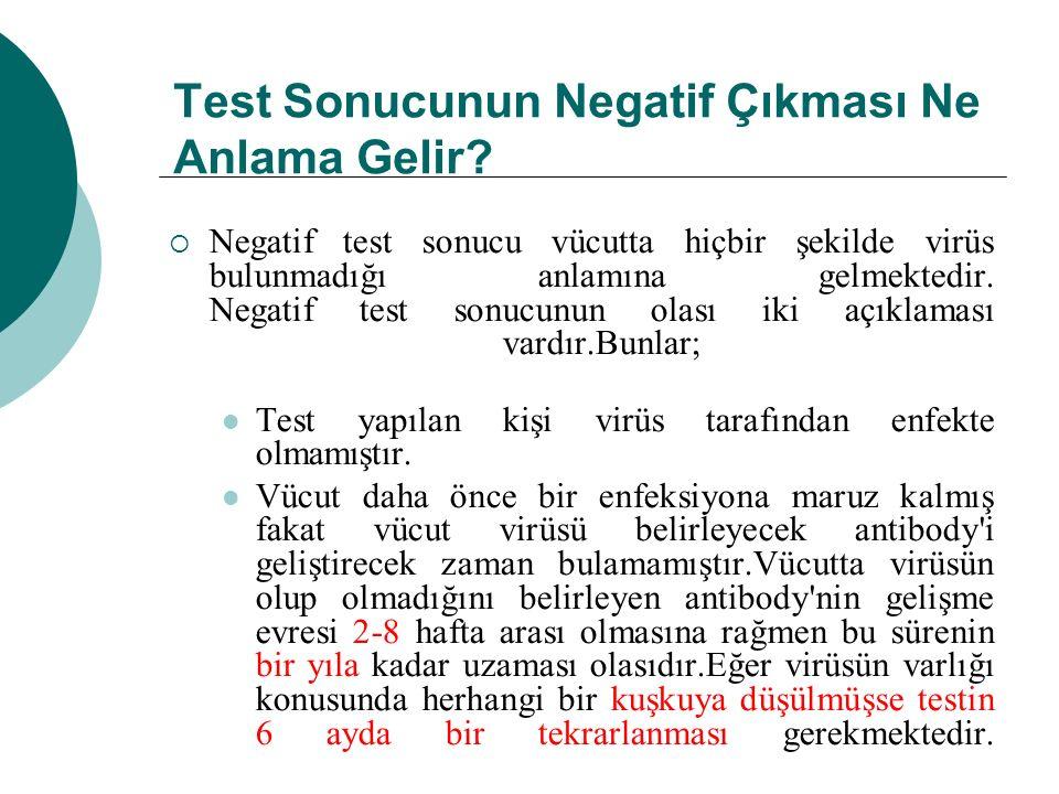 Test Sonucunun Negatif Çıkması Ne Anlama Gelir