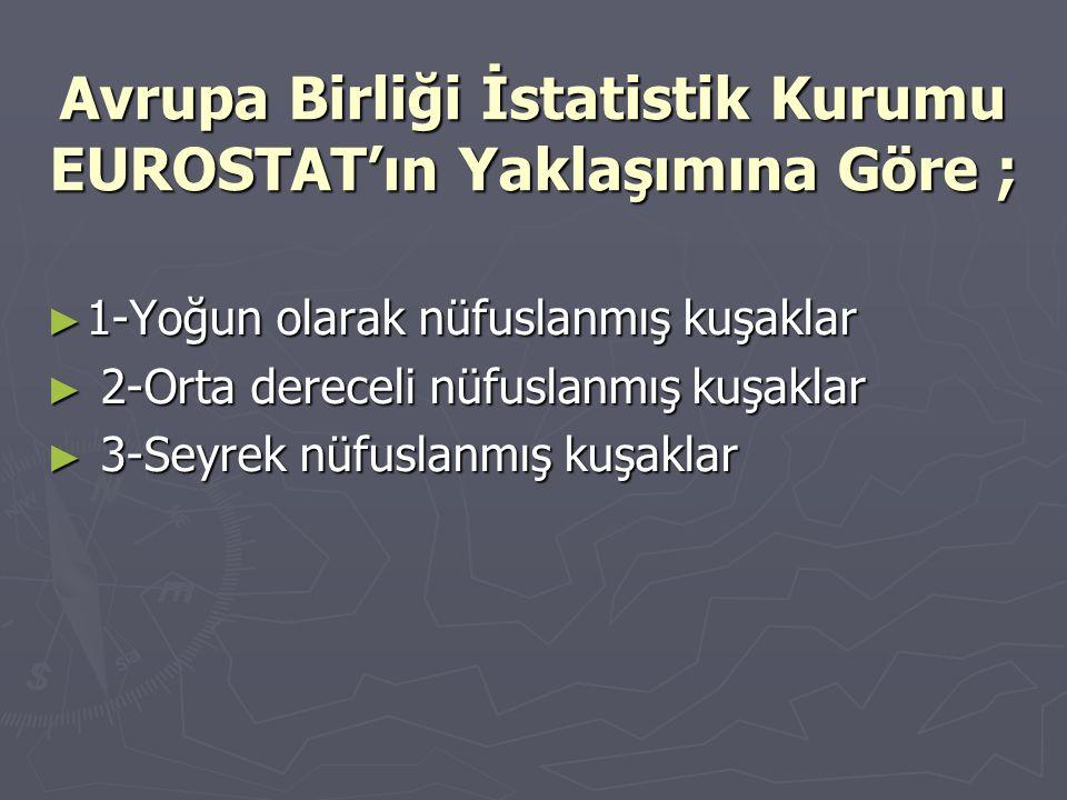 Avrupa Birliği İstatistik Kurumu EUROSTAT'ın Yaklaşımına Göre ;