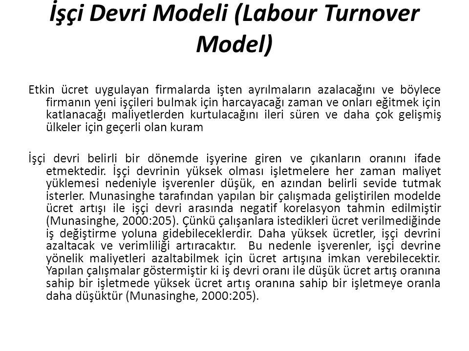 İşçi Devri Modeli (Labour Turnover Model)