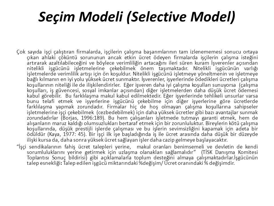 Seçim Modeli (Selective Model)