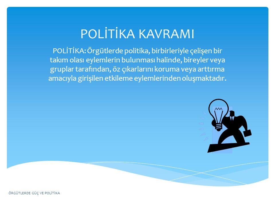 POLİTİKA KAVRAMI