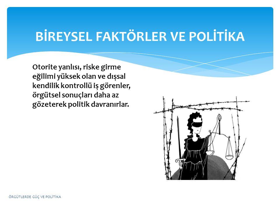 BİREYSEL FAKTÖRLER VE POLİTİKA