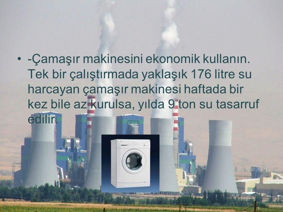 -Çamaşır makinesini ekonomik kullanın