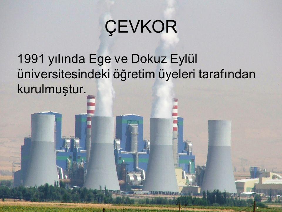 ÇEVKOR 1991 yılında Ege ve Dokuz Eylül üniversitesindeki öğretim üyeleri tarafından kurulmuştur.