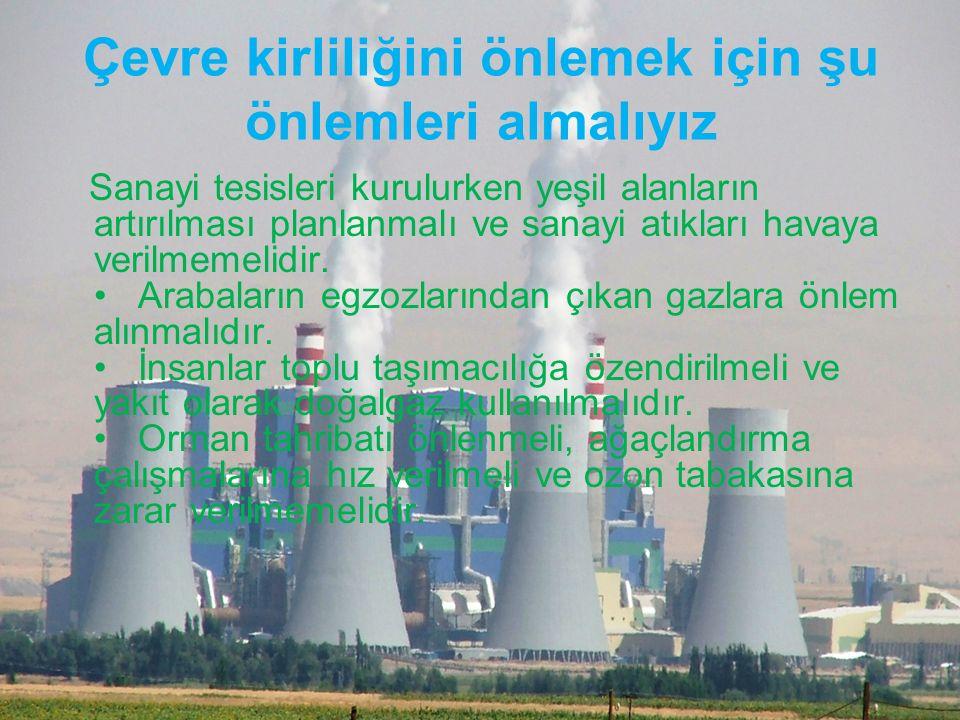 Çevre kirliliğini önlemek için şu önlemleri almalıyız