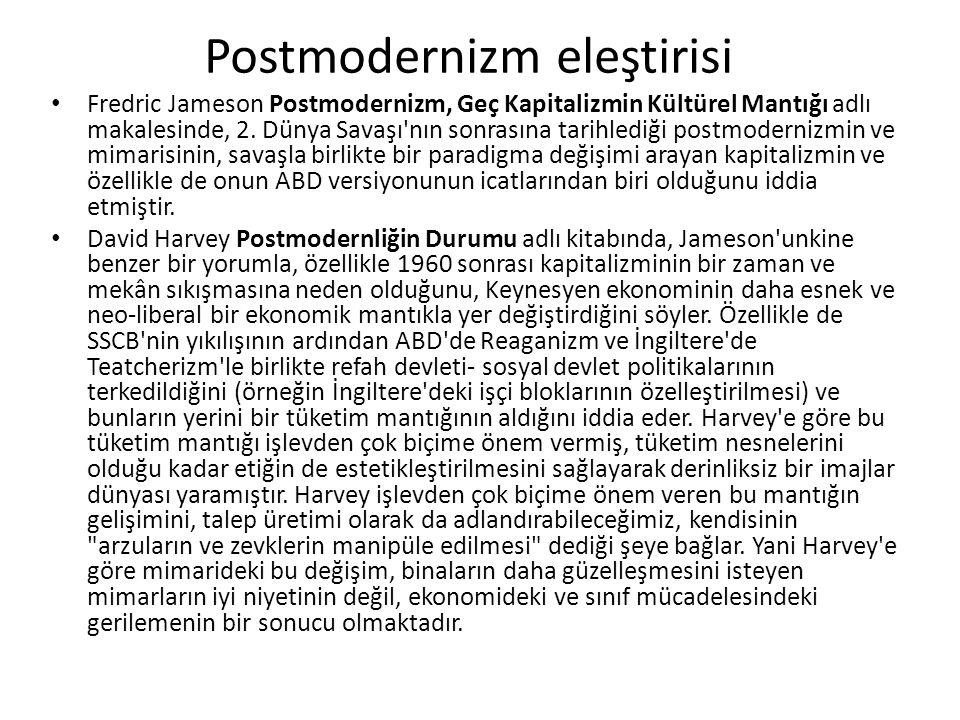 Postmodernizm eleştirisi