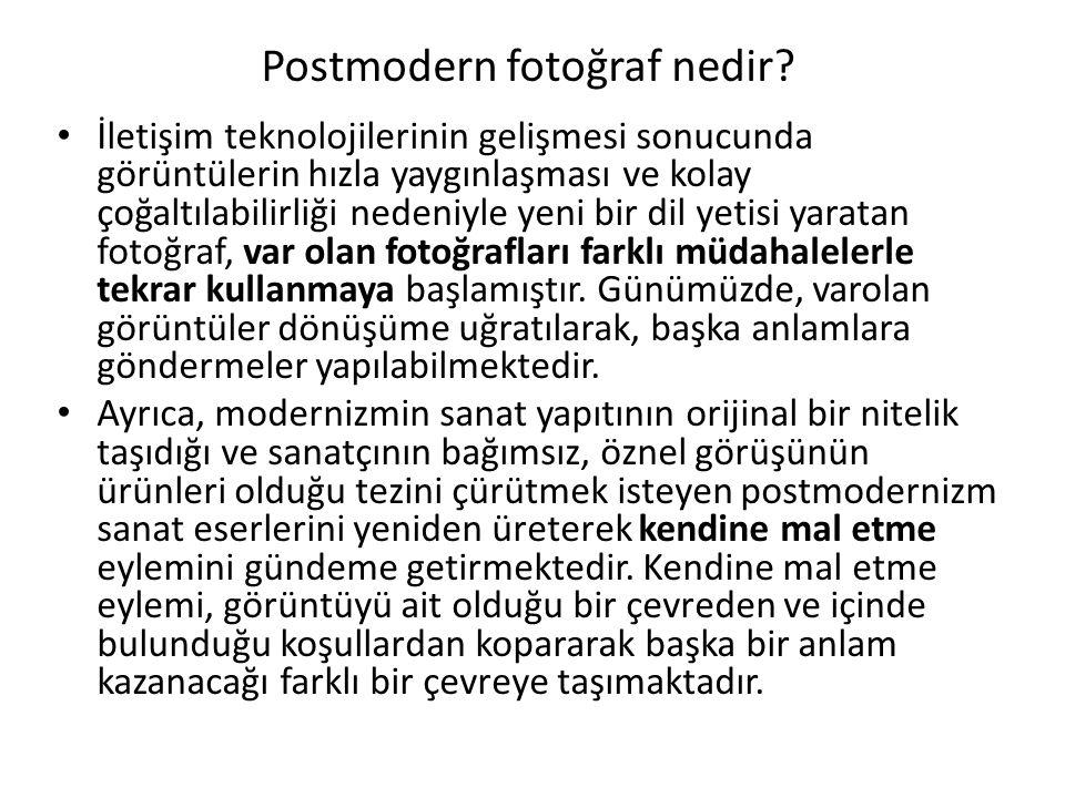 Postmodern fotoğraf nedir