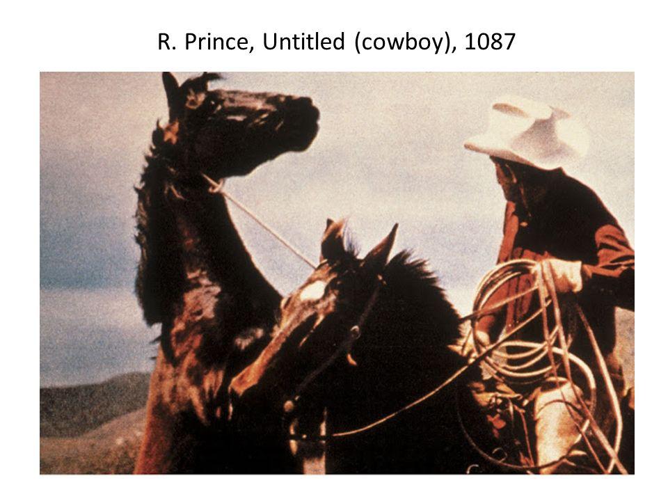R. Prince, Untitled (cowboy), 1087