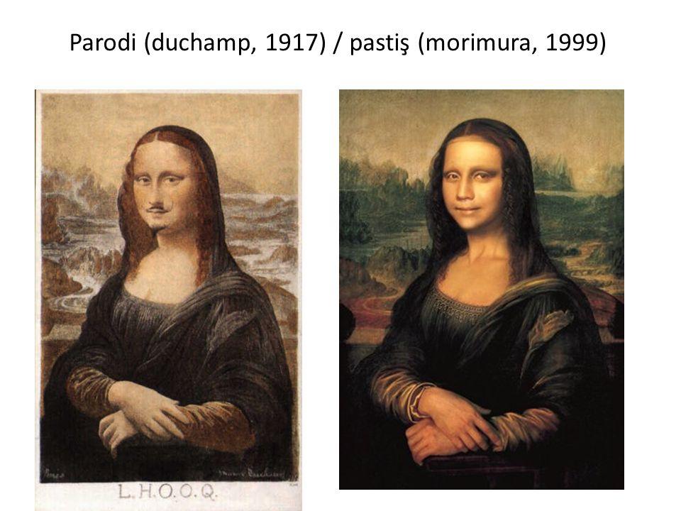 Parodi (duchamp, 1917) / pastiş (morimura, 1999)