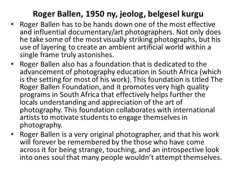 Roger Ballen, 1950 ny, jeolog, belgesel kurgu