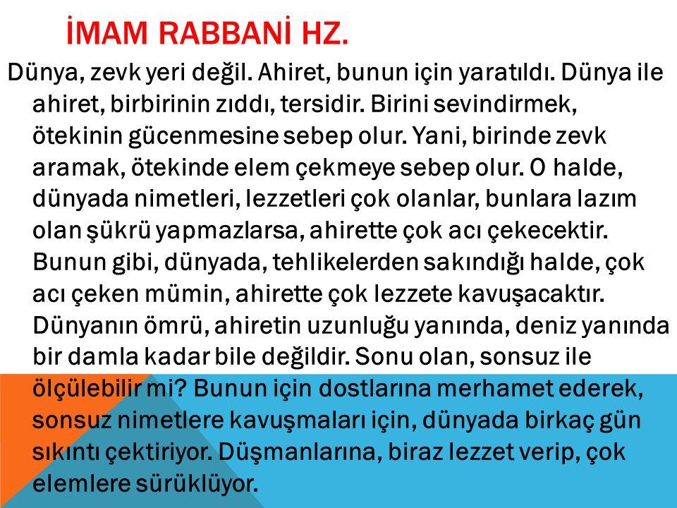İMAM RABBANİ HZ.