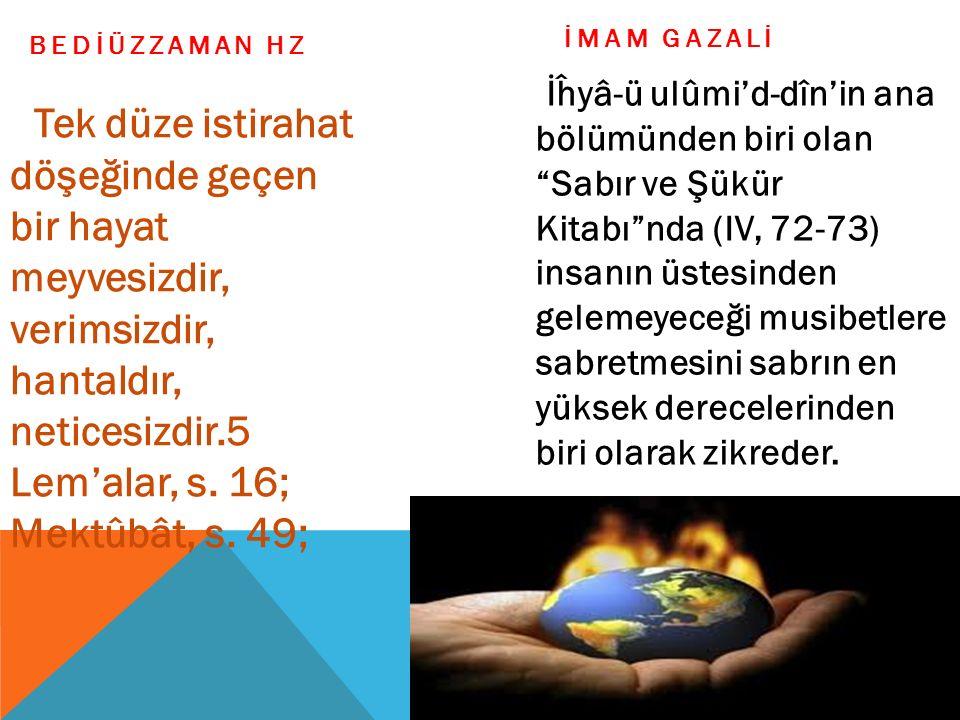 İMAM GAZALİ BEDİÜZZAMAN HZ.