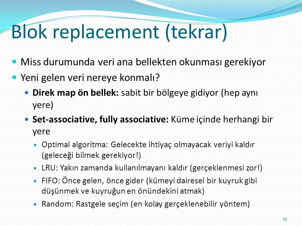 Blok replacement (tekrar)