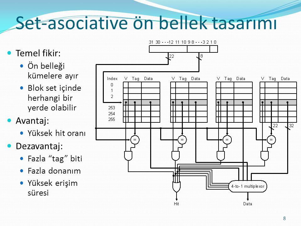 Set-asociative ön bellek tasarımı