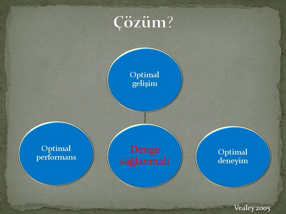 Çözüm Denge sağlanmalı Optimal gelişim Optimal performans