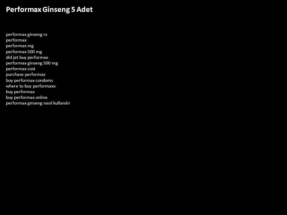 Performax Ginseng 5 Adet