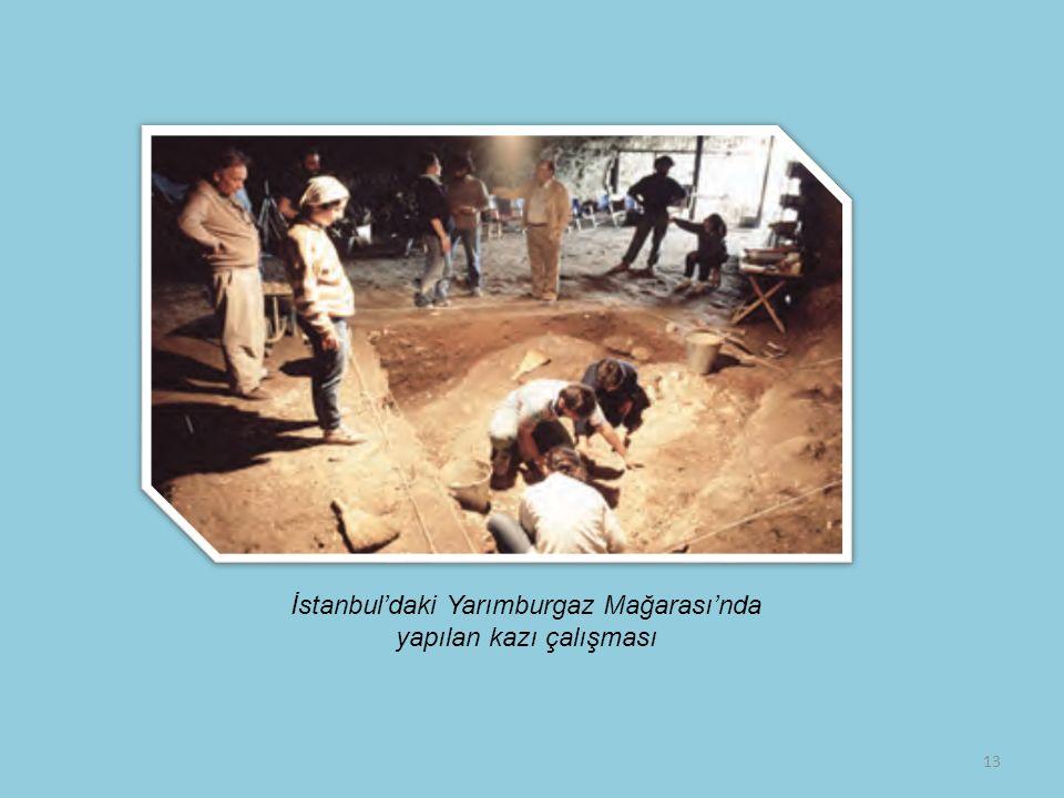 İstanbul'daki Yarımburgaz Mağarası'nda yapılan kazı çalışması