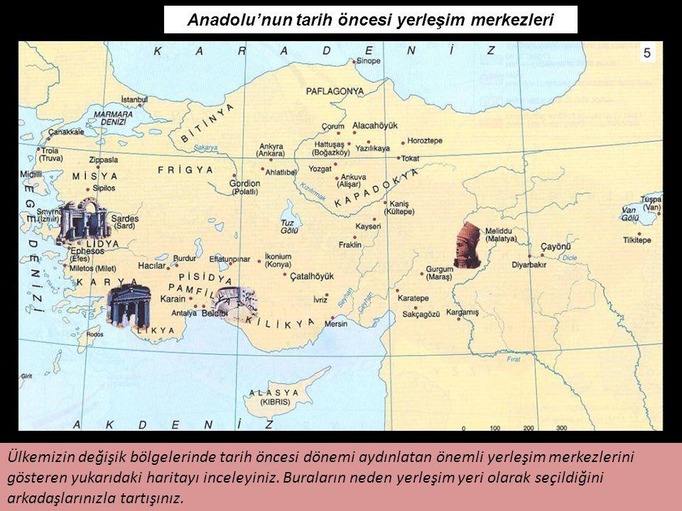 Anadolu'nun tarih öncesi yerleşim merkezleri