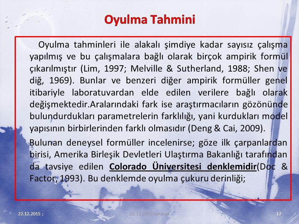 Oyulma Tahmini