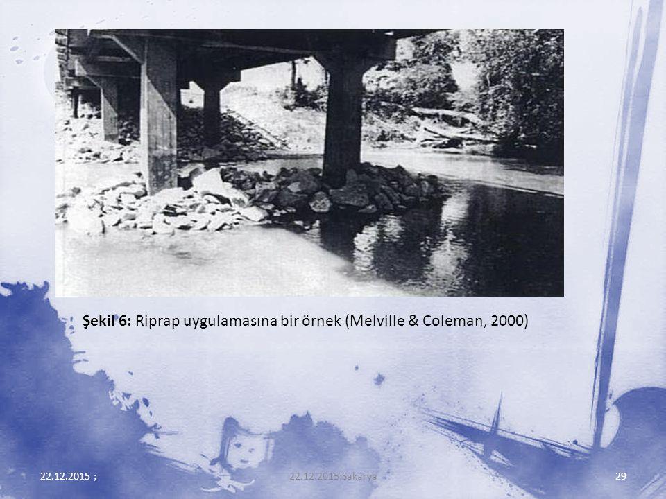 Şekil 6: Riprap uygulamasına bir örnek (Melville & Coleman, 2000)