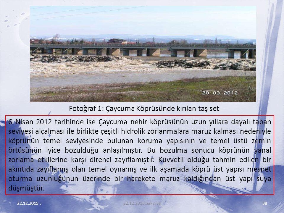Fotoğraf 1: Çaycuma Köprüsünde kırılan taş set