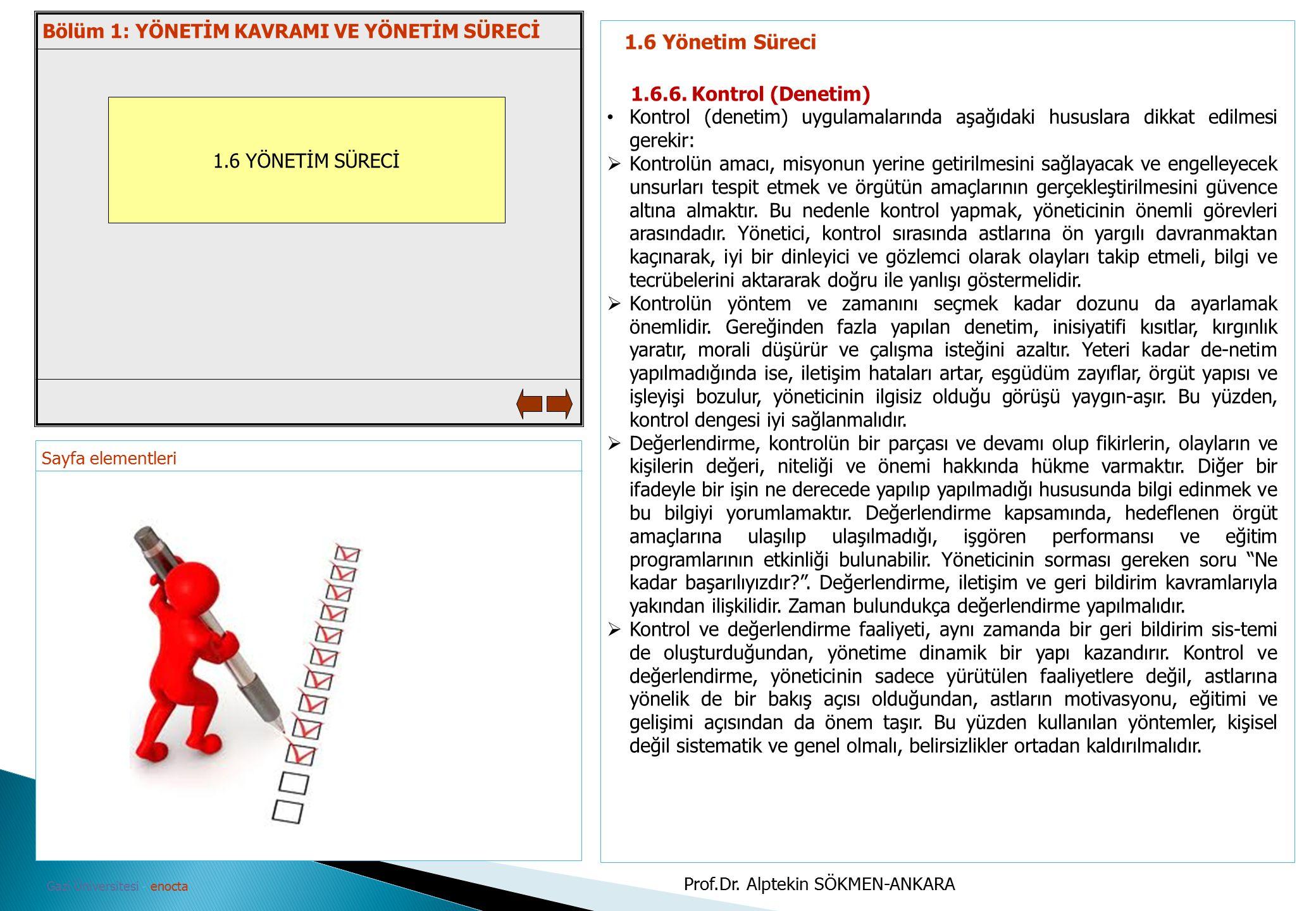 1.6 Yönetim Süreci Bölüm 1: YÖNETİM KAVRAMI VE YÖNETİM SÜRECİ