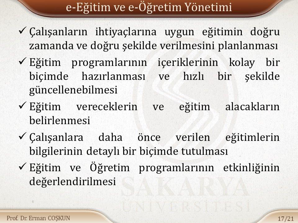 e-Eğitim ve e-Öğretim Yönetimi