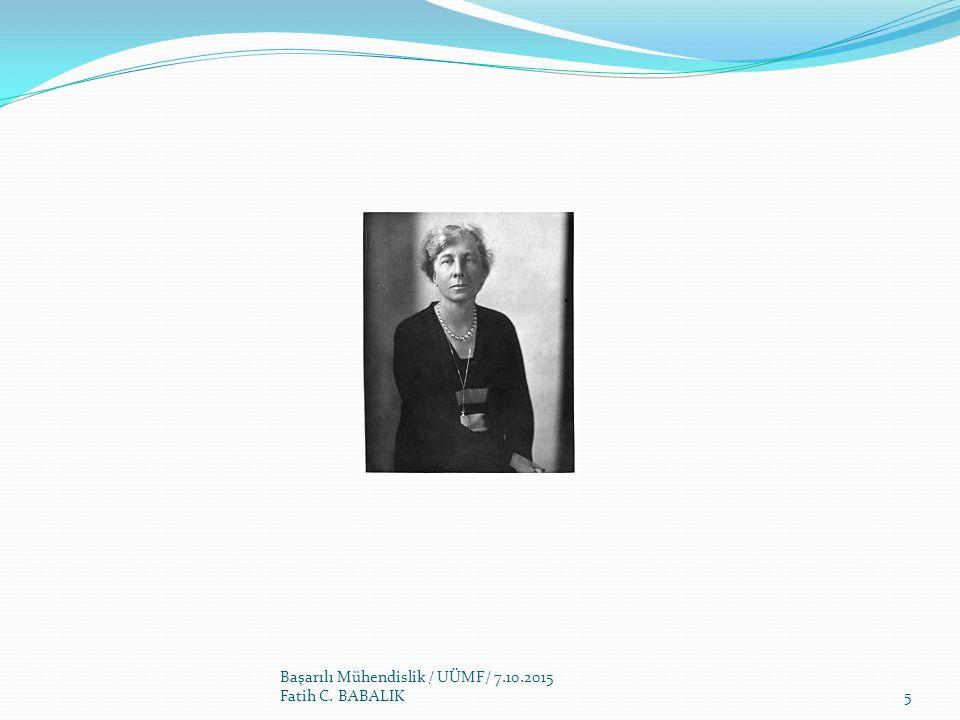 Başarılı Mühendislik / UÜMF/ 7.10.2015 Fatih C. BABALIK