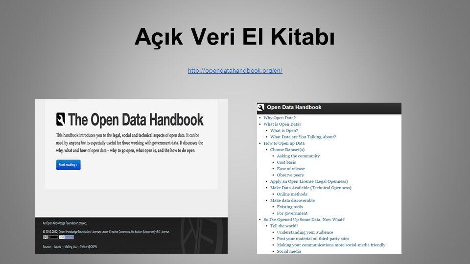 Açık Veri El Kitabı http://opendatahandbook.org/en/