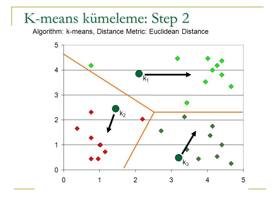 K-means kümeleme: Step 2