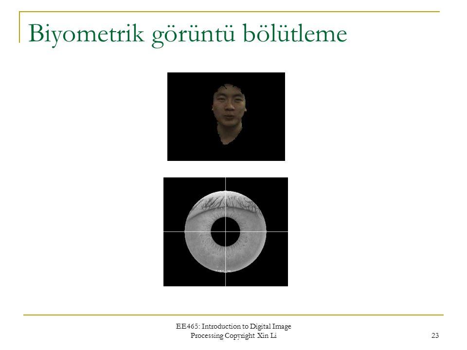 Biyometrik görüntü bölütleme