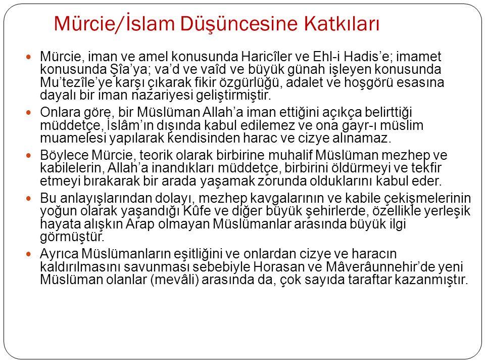 Mürcie/İslam Düşüncesine Katkıları