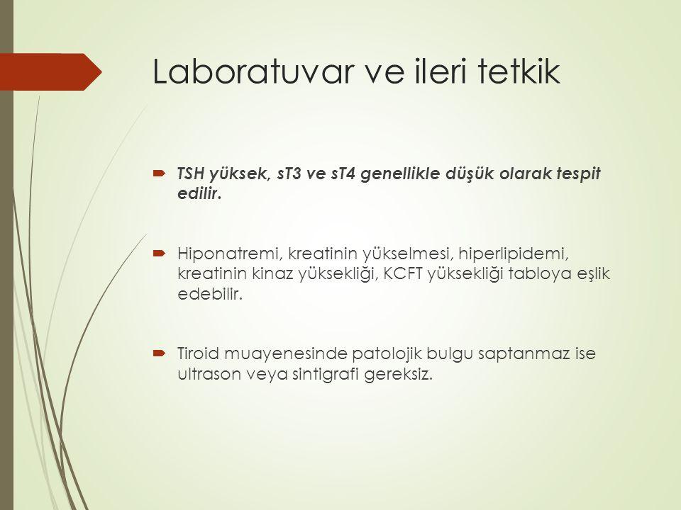 Laboratuvar ve ileri tetkik