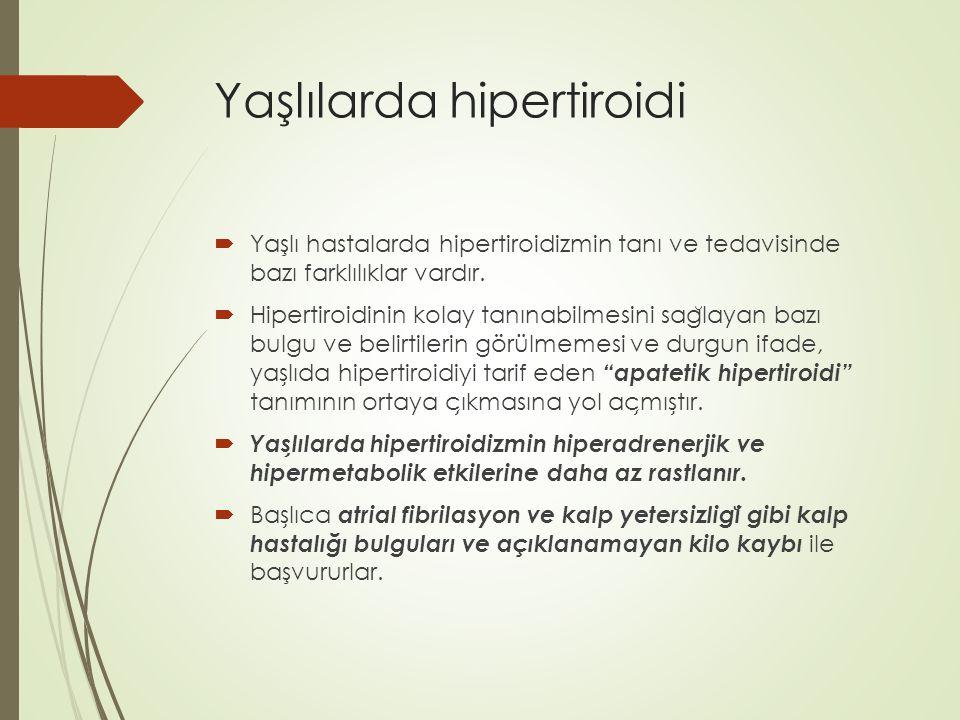 Yaşlılarda hipertiroidi