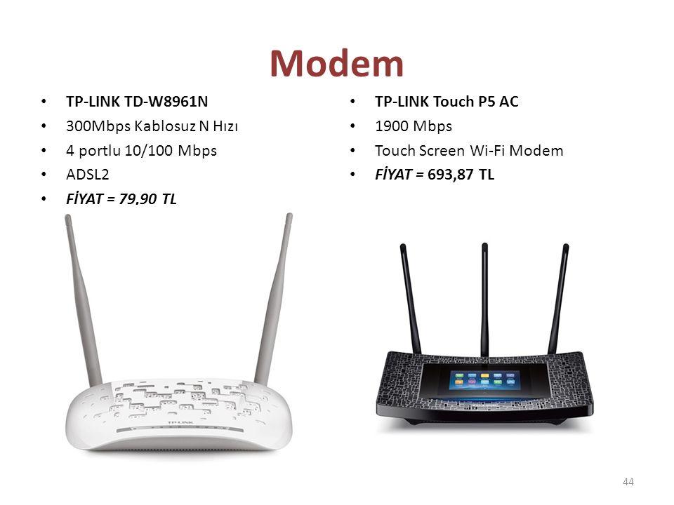 Modem TP-LINK TD-W8961N 300Mbps Kablosuz N Hızı 4 portlu 10/100 Mbps