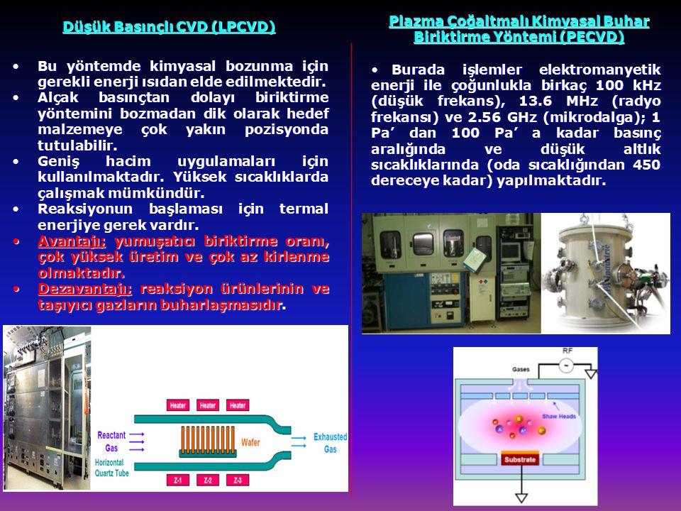Plazma Çoğaltmalı Kimyasal Buhar Biriktirme Yöntemi (PECVD)