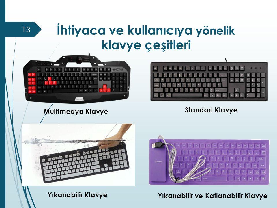 İhtiyaca ve kullanıcıya yönelik klavye çeşitleri