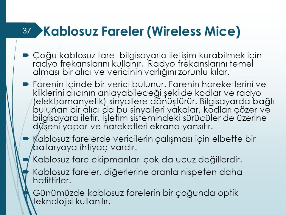 Kablosuz Fareler (Wireless Mice)