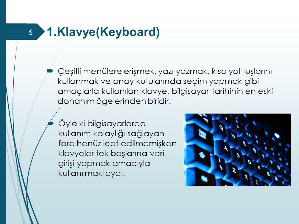 1.Klavye(Keyboard)
