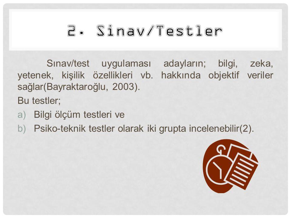 2. Sinav/Testler