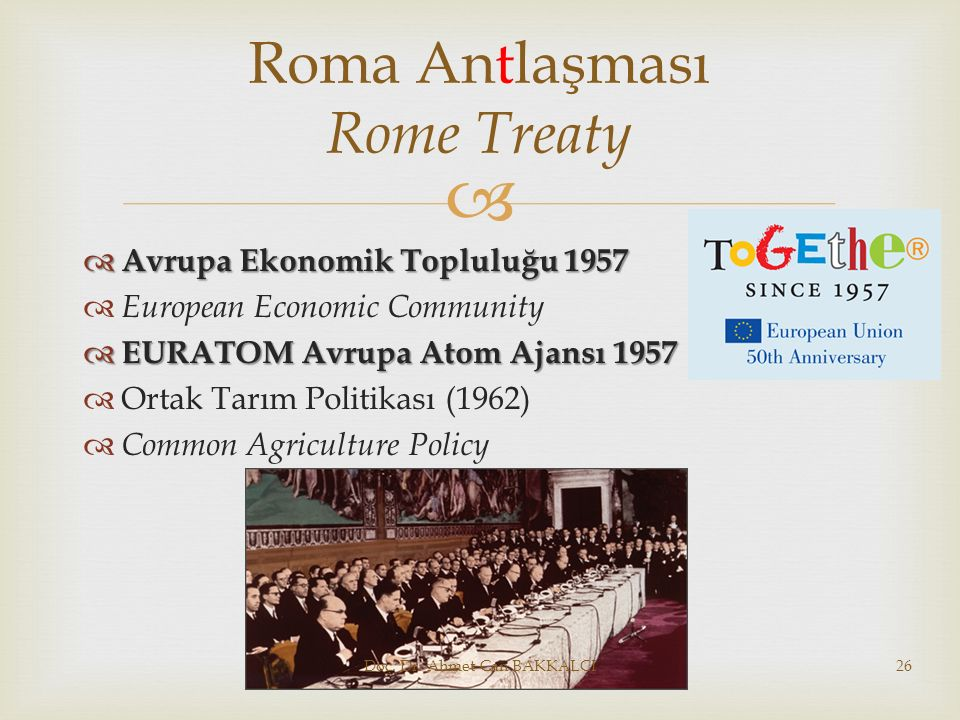 Roma Antlaşması Rome Treaty