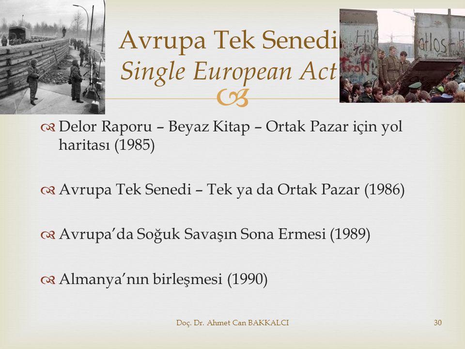 Avrupa Tek Senedi Single European Act
