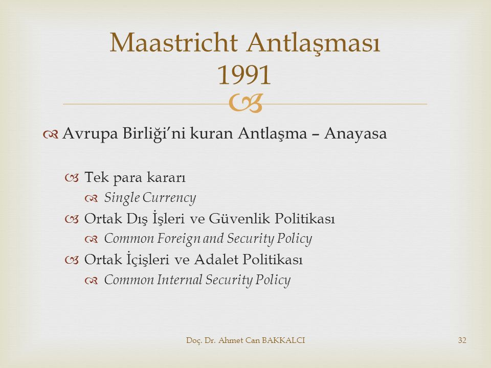 Maastricht Antlaşması 1991