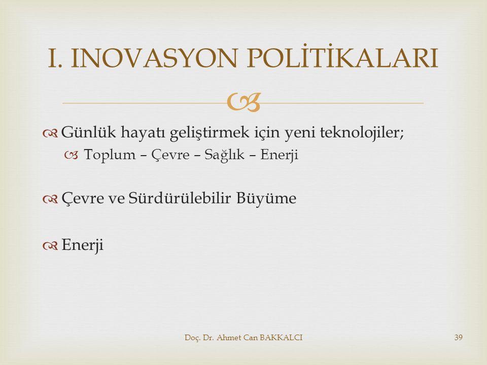 I. INOVASYON POLİTİKALARI